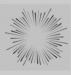 Set of isolated speed lines the effect of vector