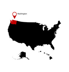 washington state in the united states map vector image