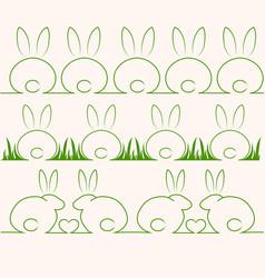 cute rabbits or bunnys vector image