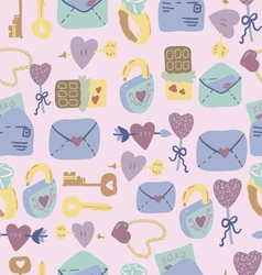 Love Letter seamless pattern vector image vector image