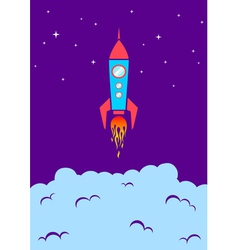 rocket new vector image vector image