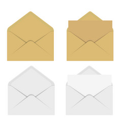 blank of white and brown envelope vector image