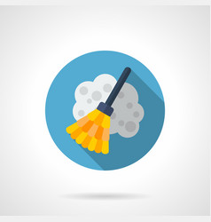 broom flat round icon vector image