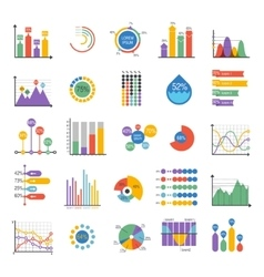 Business data graph analytics elements vector image