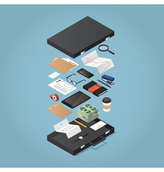 Businessman Briefcase Equipment vector image