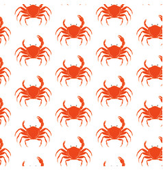 crab pattern vector image vector image