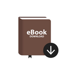 e-book icon with download arrow button online vector image vector image