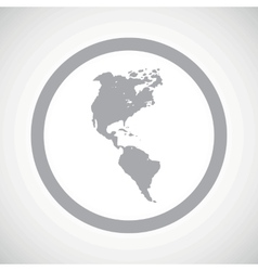 Grey America sign icon vector image