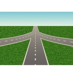 road junction on the highway vector image vector image