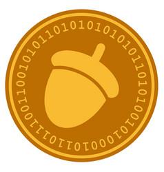 Acorn digital coin vector
