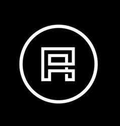 Alphabet r logo icon minimalist symbol vector