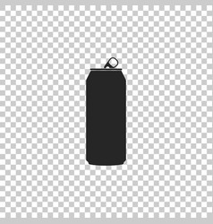 Aluminum can icon on transparent background vector