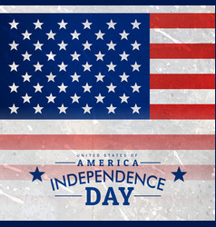 american flag in textured background vector image