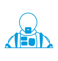astronaut portrait in space suit helmet vector image