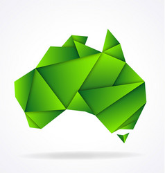 australia map folded paper origami vector image