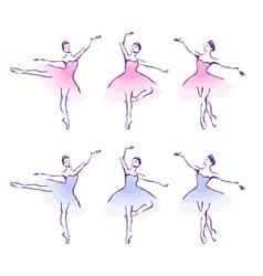Ballet woman-dancers vector image