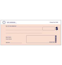 bank check blank business checks money donation vector image