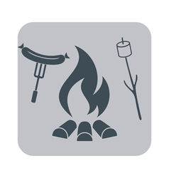 Barbecue sausage and zephyr icon vector