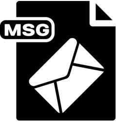 Black msg file document download msg button icon vector