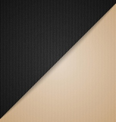 Brown and black cardboard vector