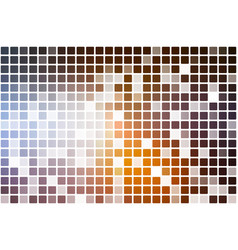 Brown orange white occasional opacity mosaic over vector