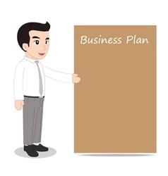 Businessman blank message board vector