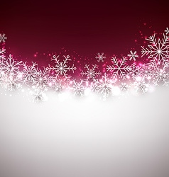 Christmas background with fallen snowflakes vector