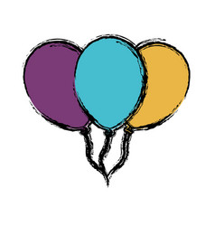 Colorful balloons icon vector