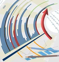 Colorful graph scene vector