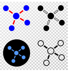 connections eps icon with contour version vector image