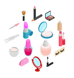 Cosmetic icons set vector