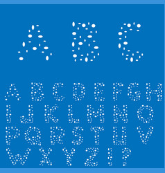 creative english alphabet vector image