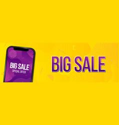 creative of big sale banner vector image