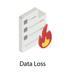 Data loss vector