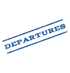 Departures Watermark Stamp vector