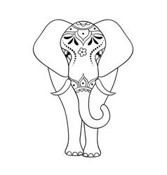 elephant on white background vector image