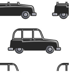 english cab seamless pattern car or taxi london vector image