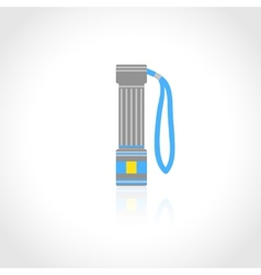 Flashlight flat isolated vector