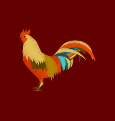 Flat shading style icon cock vector
