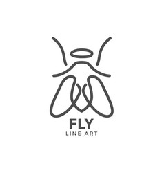 fly graphic design template vector image