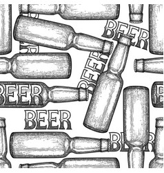 graphic bottles of beer vector image