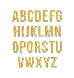 Hand drawn sketch alphabet vector image