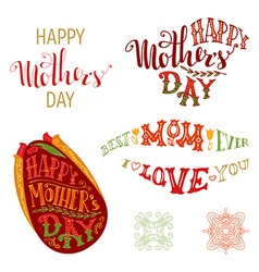 Happy Mothers Day Set vector image vector image