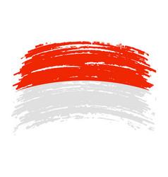 Indonesia flag in grunge brush stroke vector