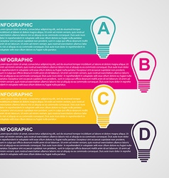 Infographic design style colorful light bulb vector image