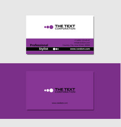 Ink business card vector