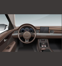 Interior inside car with vector