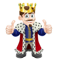 king cartoon vector image