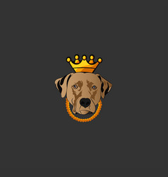 king dog logo icon vector image