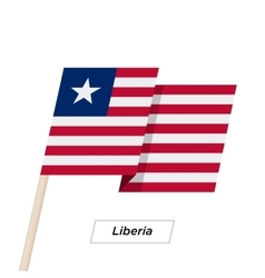 Liberia Ribbon Waving Flag Isolated on White vector image